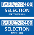Barron's 400 Index Selection logos for March and September 2013