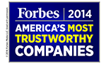 2014 Forbes 50 Most Trustworthy Financial Companies in America logo